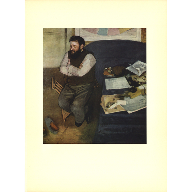 Edgar Degas – Diego Martelli, 14.5 x 11 in.