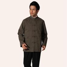 445d891da043 Sıcak satış ordu yeşil çin tarzı erkekler pamuk ceket Vintage Kung Fu ceket  sonbahar Mandarin yaka palto M L XL XXL XXXL MN24