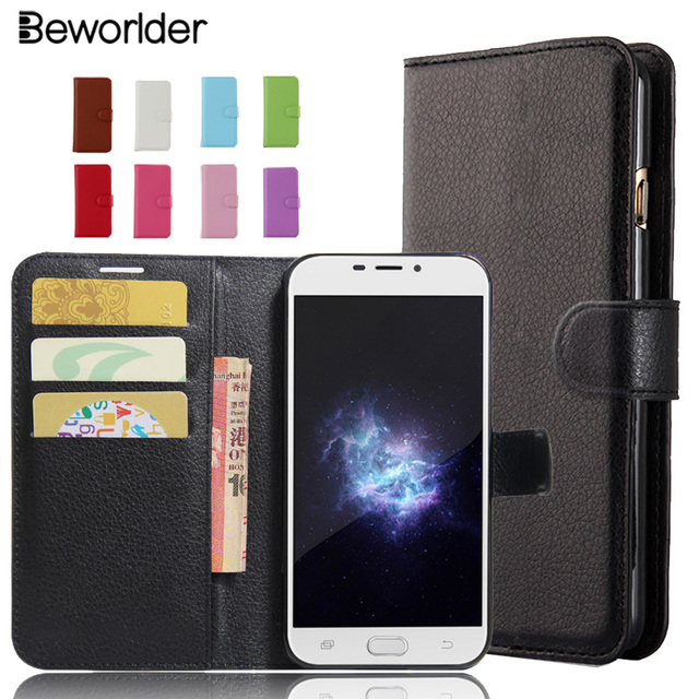 Beworlder For Doogee X9 Pro Phone Cases Cover Lichee Pattern PU Leather Case Card Slots Wallet  High Quality For Doogee X9Pro