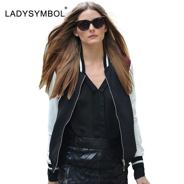 LADYSYMBOL Stain Reversible Spliced Black Bomber Jacket Women Cool ...