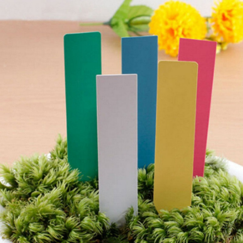 100pcs Garden Plastic Plant Labels 4 Inches Plant Tag Garden Ornaments Gardening Label Nursery Flower Tag