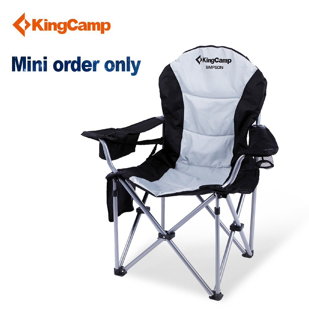 KingCamp mini order 50-1000 pics Lightweight Folding Stool Fishing Seat Portable Strong Heavy Camping Chair best seller kingcamp compact chair l