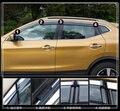 Alta calidad 4 unids refugio coche, visor de Windows, Lluvia ceja, clima Automático bloque con adornos brillantes para Nissan Qashqai 2016