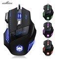 Malloom 7200 DPI 7 Botões Do Mouse Gamer Gaming Multi Color Óptico USB LED Wired Gaming Mouse Mouse Para Pro Gamer Frete grátis