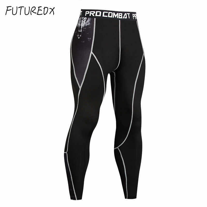 4f113948f649f ... Men's Compression Print Tights MMA Leggings Running Jogging Sports  Fitness Training Crossfit Men's Quick-drying ...