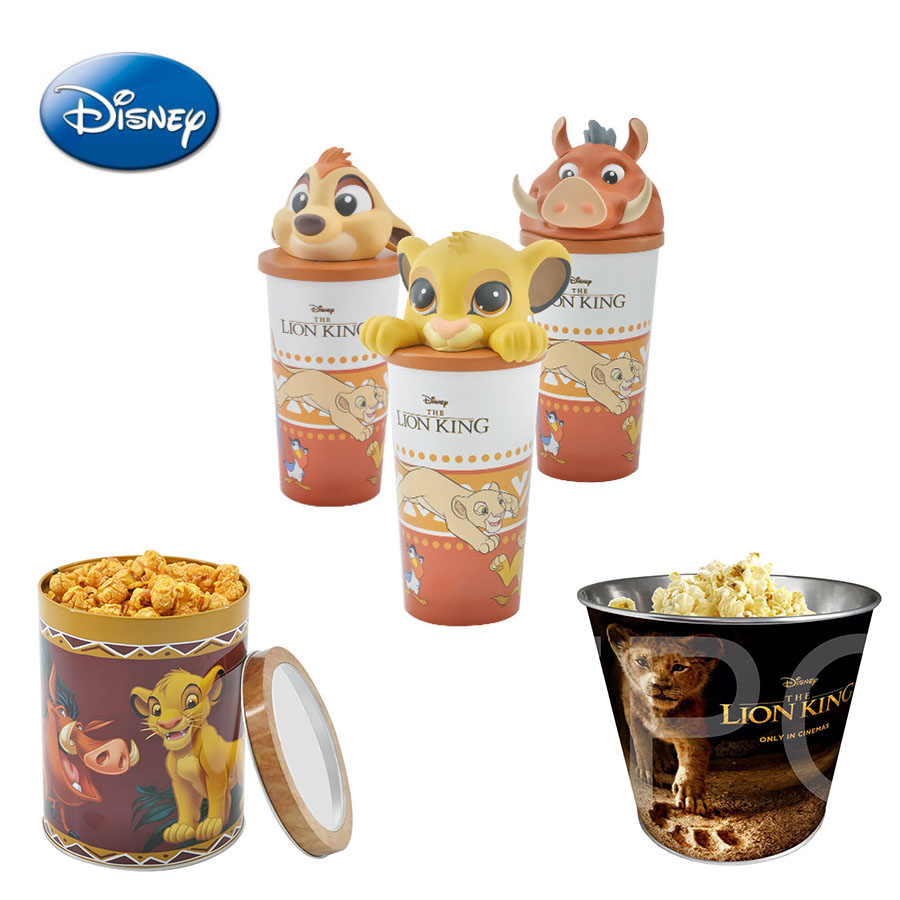 Disney Toys Anime Figure-Cup Gift Popcorn Movie Lion King Children for Funs Barrel THE