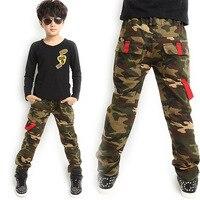 New Spring Autumn 2017 Children Pants Boy Camouflage Print Military Casual Pants Children Boys Cargo Pants