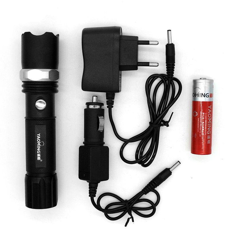 2000LM CREE XML Q5 Tactical Led Flashlight Rechargeable Lantern Lamp + Charger + 18650 Battery Adjustable Police Torch Light 502b led flashlight waterproof torch cree xml t6 chip 2000lm 1 18650 rechargeable battery universal charger protection box