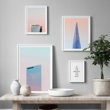 Modern Geometric Building Landscape Quote Wall Art Canvas Painting Nordic Posters And Prints Pictures For Living Room Decor