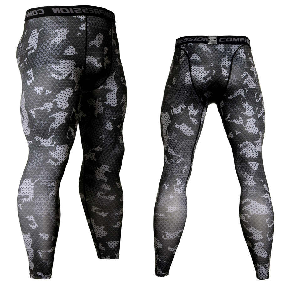 c7ea70175f Men Camouflage Compression Pants Running Tights Soccer Training Pants  Fitness Sport Leggings Gym Jogging Trousers Sportswear