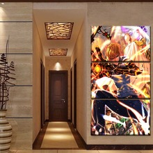 Canvas Paintings Wall Art Decorative HD Printed 3 Pieces Anime One-Punch Man Genos Saitama Poster Home Decor Framework