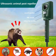 Waterproof and environmentally friendly infrared motion sensing ultrasonic animal repeller to drive away birds and cats and dogs horn bird repeller waterproof environmentally friendly bird repeller ultrasonic animal control without battery
