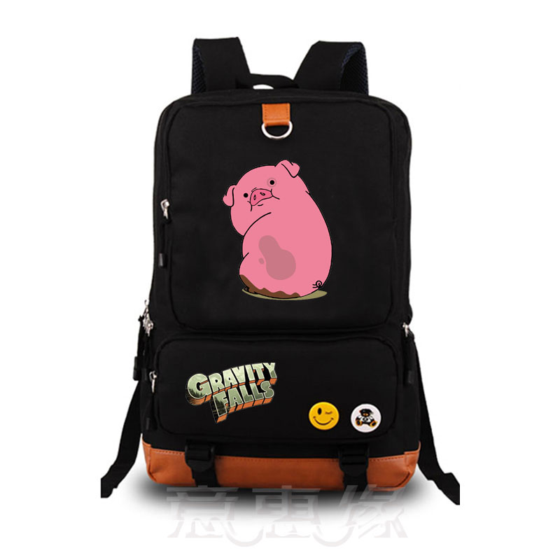 New Gravity Falls school bag backpack student school bag Notebook backpacks Leisure Daily backpack 2017 new naruto school backpack anime bag cosplay cartoon student leisure back to school 17 backpacks laptop travel shouler bag
