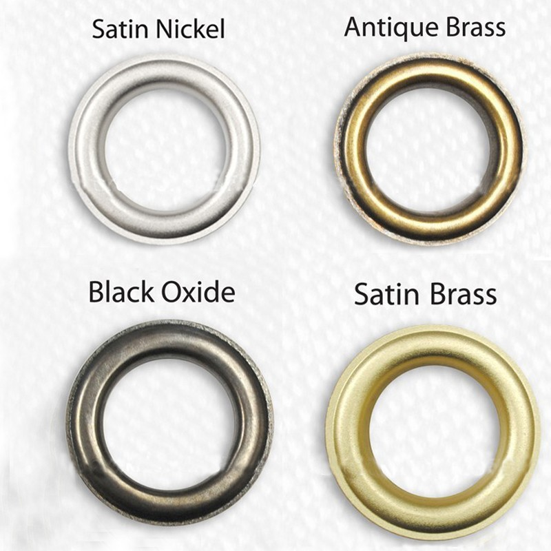 5 mm steel eyelets grommet with washers in nickel oxide gold antique brass ANV