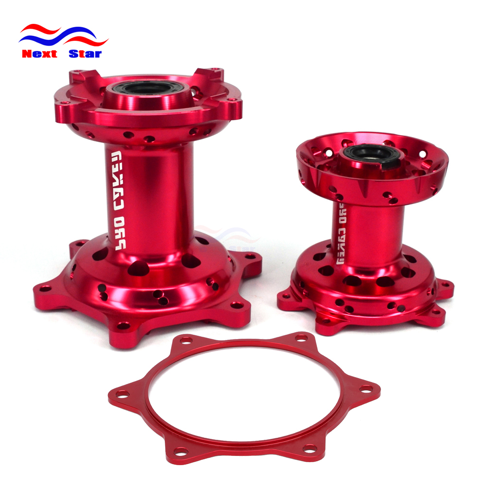 Motorcycle Aluminum Front & Rear Wheel Hubs Sprocket Gasket For HONDA CRF450R CRF 450R 2013-2016 CRF250R CRF-250R 2014 2015 2016 for honda crf 250r 450r 2004 2006 crf 250x 450x 2004 2015 red motorcycle dirt bike off road cnc pivot brake clutch lever