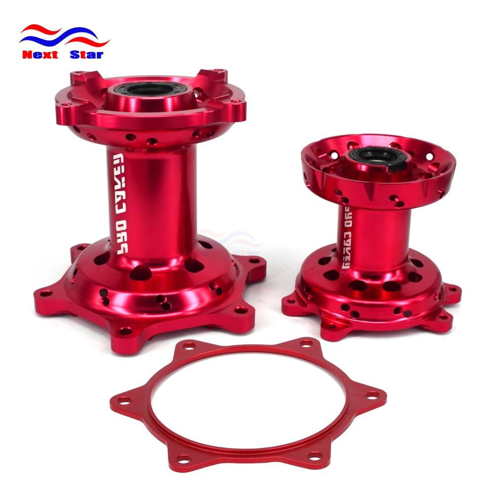 Motorcycle Aluminum Front & Rear Wheel Hubs Sprocket Gasket For HONDA CRF450R CRF 450R 2013 2016 CRF250R CRF 250R 2014 2015 2016