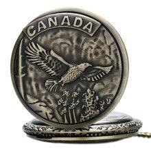 Retro Bronze CANADA Eagle Case Design Cool Quartz