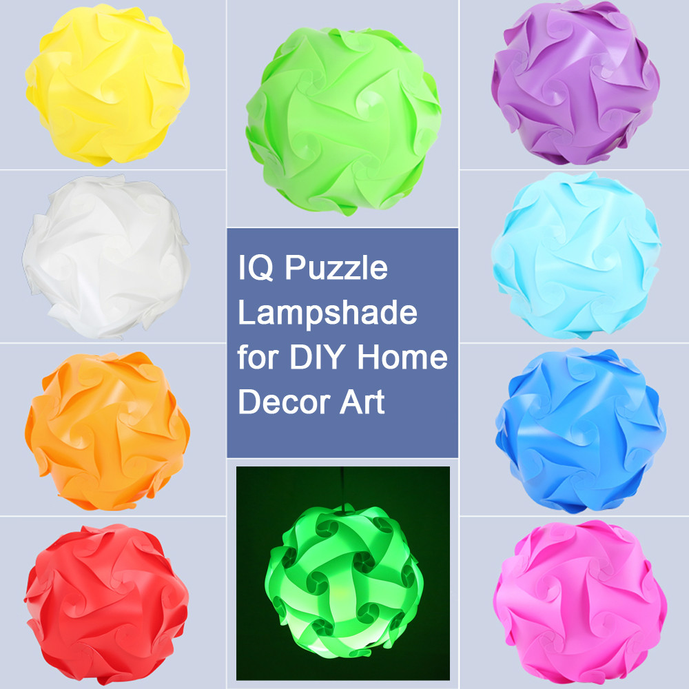 10 Farben 30 Cm Bigger Bunte Stcke Elemente Moderne Diy Iq Puzzle Bar Decor Jigsaw Licht Origami Lampenschirm Decke Lampensc