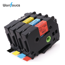 12mm 4pcs Mixed Color Compatible Brother tz Tapes TZe 431 tze531 tz 631 335 Labling Cartridge For Bruder P-Touch Label Maker brother tz e233