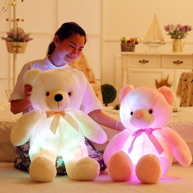 Stuffed e Plush Animais natal para crianças Modelo Número : Glowing Teddy Bear