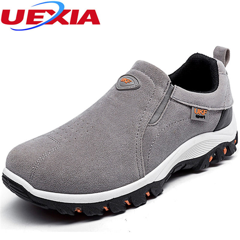New High Quality Men Shoes Suede leather Flats Trainers Zapatos Hombre Casual Breathable Outdoor Non Slip Walking Zapatillas