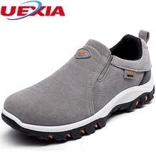 Nueva Alta Calidad de Los Hombres Zapatos de cuero de Gamuza Pisos Entrenadores Zapatos Hombre Casual Transpirable Al Aire Libre Antideslizante Caminando Zapatillas