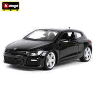 Burago 1:24 Simulation Diecast alloy car model toy For Volkswagen Scirocco car decoration man Collection Gift With Original Box