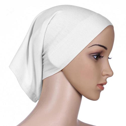 Pure Color Islamic Muslim Hijab Cotton Blend Headband Scarf Women Head Cover Bonnet