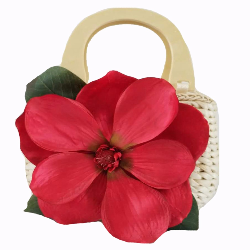 378534e2e15 De paja de verano de mimbre bolsos para mujeres de lujo 2018 flores  decorado a mano playa tejida dama bolso de embrague Bolsa T104 en Cubos de  Bolsos y ...
