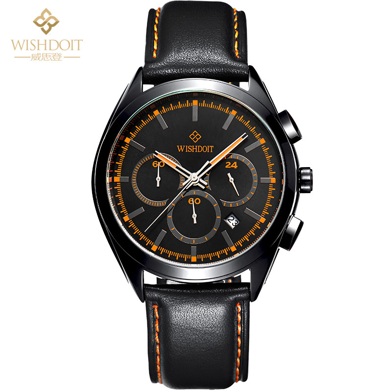 Student Sport Mens Watch Leather Band Quartz Wristwatches Luminous Men Clock Black Watch Military Big Dial Fashion Reloj Hombre clot big dial quartz watch with leather band for men