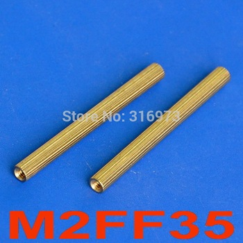 (1000 pcs/lot) 35mm Threaded M2 Brass Female-Female Standoff, Spacer. image