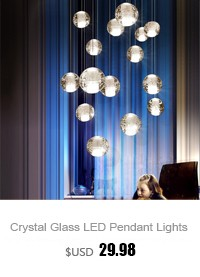 Crystal-Glass-Ball-LED-Pendant-Lights
