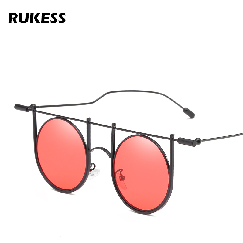52f8f6c23c Detail Feedback Questions about RUKESS Fashion Vintage Red Blue Clear Lens  Sunglasses Men Women Summer Style Classic Round Hollow Out Sun Glasses  Shades ...