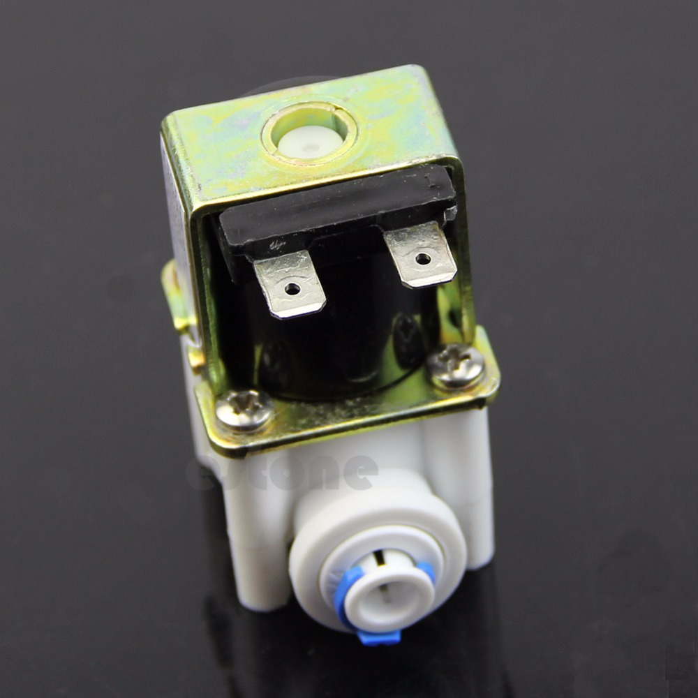 Plastic Electric Solenoid Valve for Ionizer Flow Switch Water Purifier Inlet DC 24V 4v series 24v dc solenoid valve