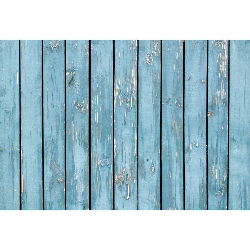 Vinyl And Polyester Photography Backdrops Blue Wood Floor