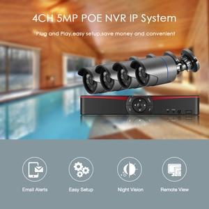 Image 2 - H.265 نظام المراقبة 4CH 5.0MP POE طقم NVR في الأماكن المغلقة في الهواء الطلق رصاصة الصوت سجل 5MP 3MP 2MP IP كاميرا الأشعة تحت الحمراء ليلة P2P مجموعة الفيديو