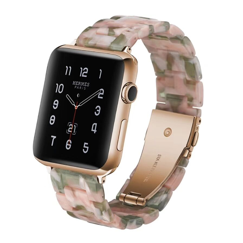EIMO Imitation ceramic strap For apple watch band 42mm 38mm iwatch 3 2 1 Wrist bracelet stainless steel buckle Belt Watchband цена 2017