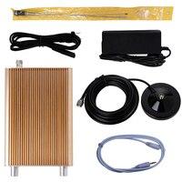 Золотой цвет 5 Вт/15 Вт NIO T15B передатчик вещания 87 108 МГц + 12 В 5A адаптер питания + 3,5 мм аудио кабель + автомобильная антенна (новая версия)