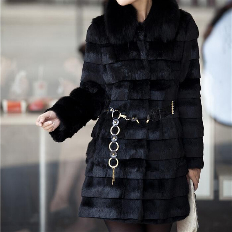 Popular Women White and Black Faux Fur Coats-Buy Cheap Women White