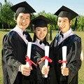 Sin sombrero! desempeño de los estudiantes de ropa vestido Académico Dr. Dr. graduado Licenciatura En trajes de tela tapa
