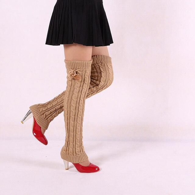 Diseño de Las Mujeres de Señora Winter Crochet de Punto Calentadores ...