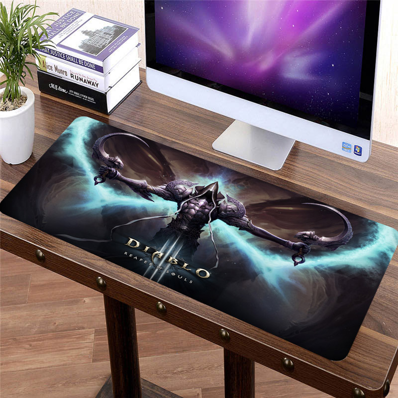 SIANCS 70*30cm Diablo 3 Mouse Pad Mat XL Large Gaming Mousepad Mouse Gamer Professional Anti-slip Gamer Mouse Mat Lock Edge