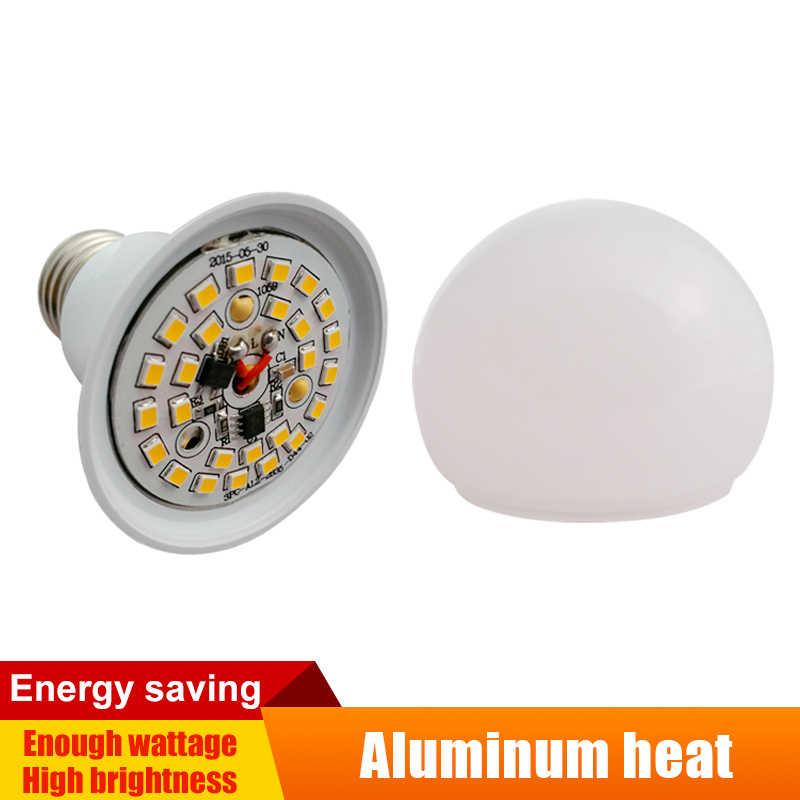 5 pcs/lot lampes LED 220 V/110 V E27/B22 lumière domestique LED Globe froid/chaud blanc lumière aluminium panneau ampoules 3 w/5 w/7 w/9 w/12 w/15 w /18W