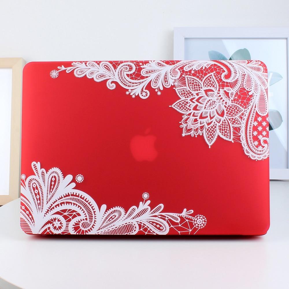 Nowa moda dla dziewczyn Matte Lace Hard Case Cover do Macbook Air 13 - Akcesoria do laptopów - Zdjęcie 4