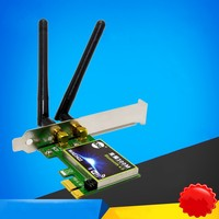 300Mbps Dual Frequency Wireless Wifi Bluetooth 4.0 PCI-E Card Desktop PC Adapter