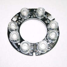 Аксессуары системы видеонаблюдения инфракрасный свет 8 зерна IR LED доска для наблюдения ночного видения диаметр 63 мм