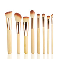 8pcs Bamboo Makeup Brushes Set Powder Foundation Blusher Concealer Eyebrow Brush Pincel Maquiagem Cosmetic Beauty Tools