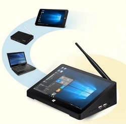 All in one  fanless industrial touch screen mini pc  with 1024*768P HD display