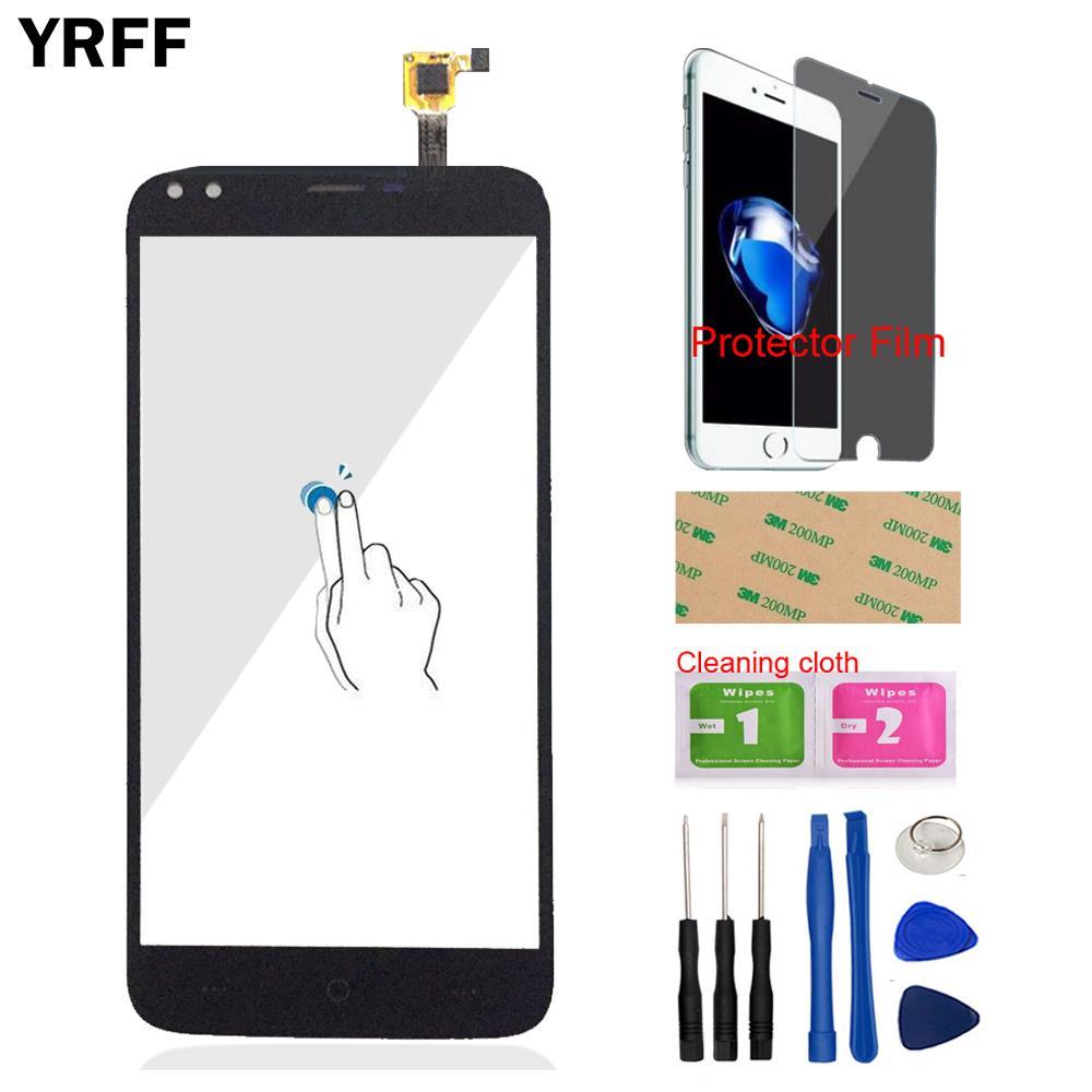 YRFF 5.5 ''טלפון נייד מגע זכוכית עבור Doogee X30 מגע מסך Digitizer פנל זכוכית כלים + משלוח Protecotr סרט + דבק
