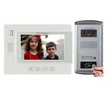 ZHUDELE Home Security Intercom Audio Doorbell 7 Video Door Phone 700TVL FRID Panel IR Camera w/t Waterproof Cover in stock